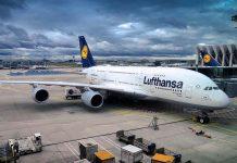 Lufthansa Airbus lotnisko